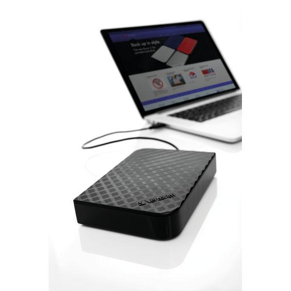 Verbatim Black 4TB USB 3.0 Store and Save Desktop HDD – 47685