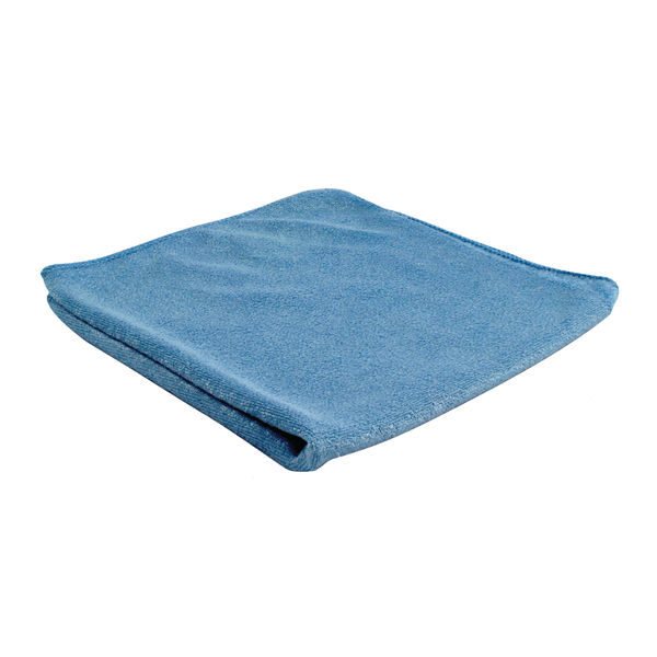 2Work Blue Microfibre Cloth, Pack of 10 - 101161