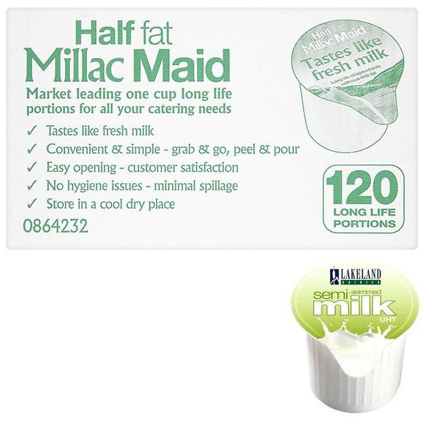 Lakeland Semi-Skimmed Milk Pots, Pack of 120 | A00879
