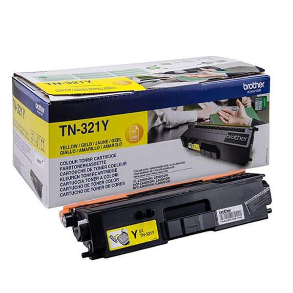 Brother TN321Y Yellow Toner Cartridge - TN321Y