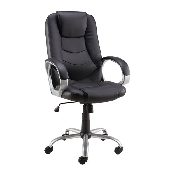 Darcy Black Bonded Leather/PVC Executive Office Chair - 27426