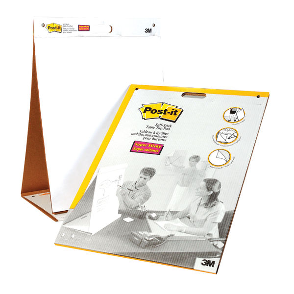 Post It Table Top Meeting Chart White 3M96384
