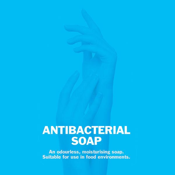 2Work Anti-Bacterial Pump Hand Soap 300ml, Pack of 6 - 213
