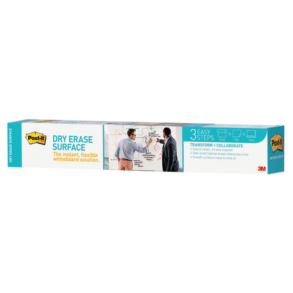 Super Sticky Post-it Dry Erase Film Roll, 1.219 x 2.438m - DEF8X4-EU