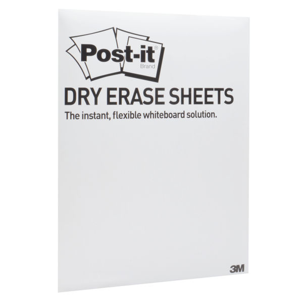 Post-it Dry Erase White Sheets, 279 x 390mm, Pack of 15 - DEFPACKL-EU