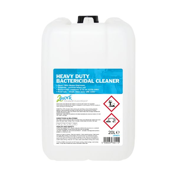 2Work Heavy Duty Bactericidal Cleaner 20 Litre - 319