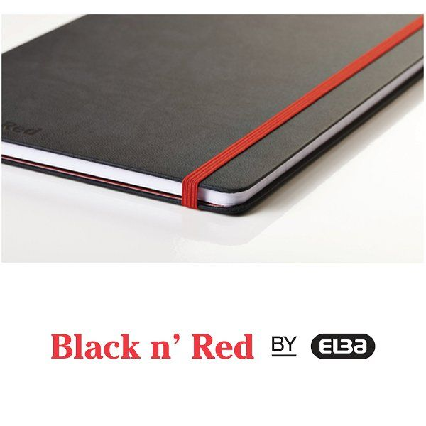 Black n' Red A6 Casebound Hardback Notebook - 400033672