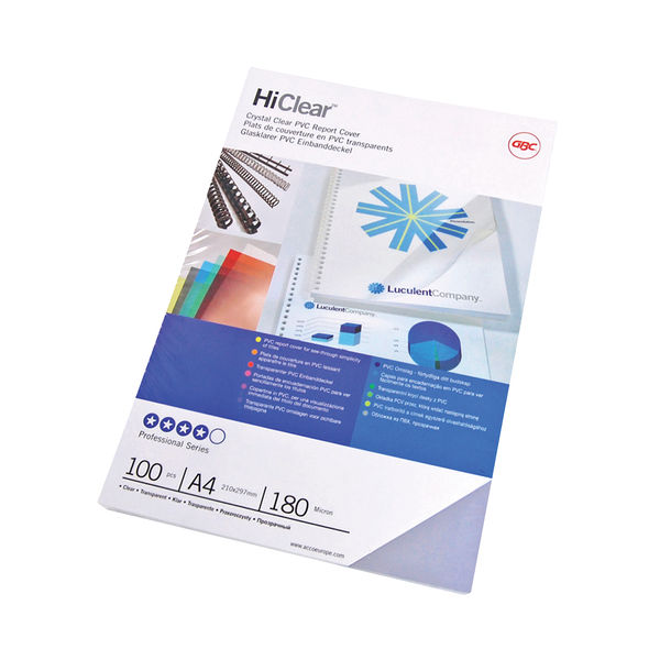 GBC Superclear A4 150 Micron PVC Covers (Pack of 50) - 41601U
