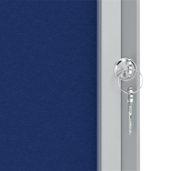 Nobo Premium Plus Felt Lockable Notice Board 9xA4 1902556