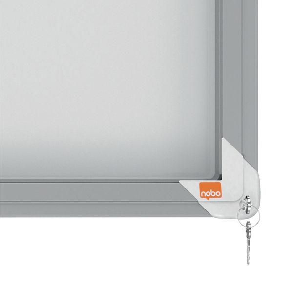 Nobo Premium Plus Magnetic Lockable Notice Board 18xA4 1902571