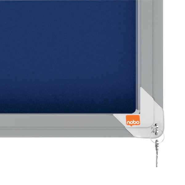 Nobo Premium Plus Felt Lockable Notice Board – 1902566