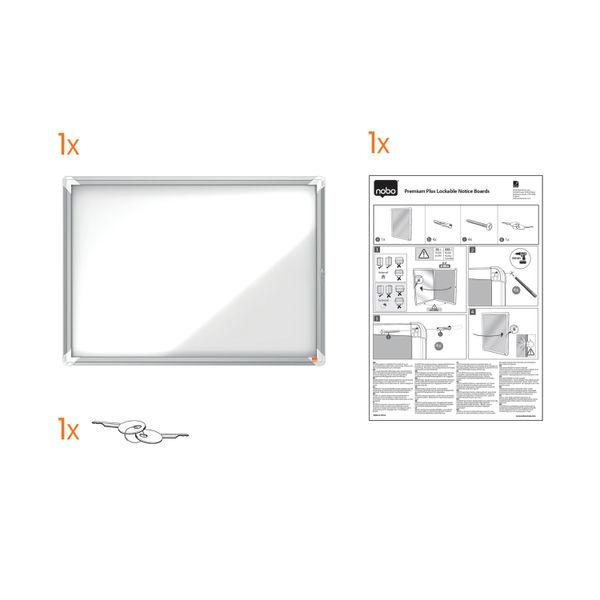 Nobo 9 x A4 Internal Glazed Magnetic Display Case - 1902560