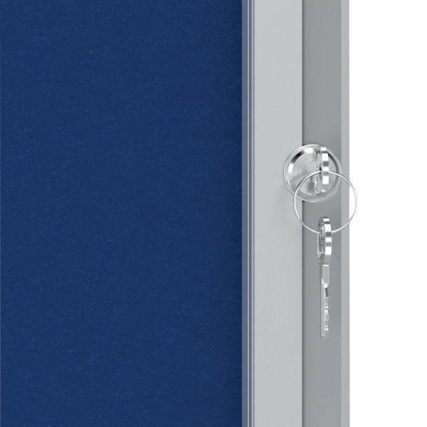 Nobo Premium Plus Felt Lockable Notice Board 6xA4 1902555