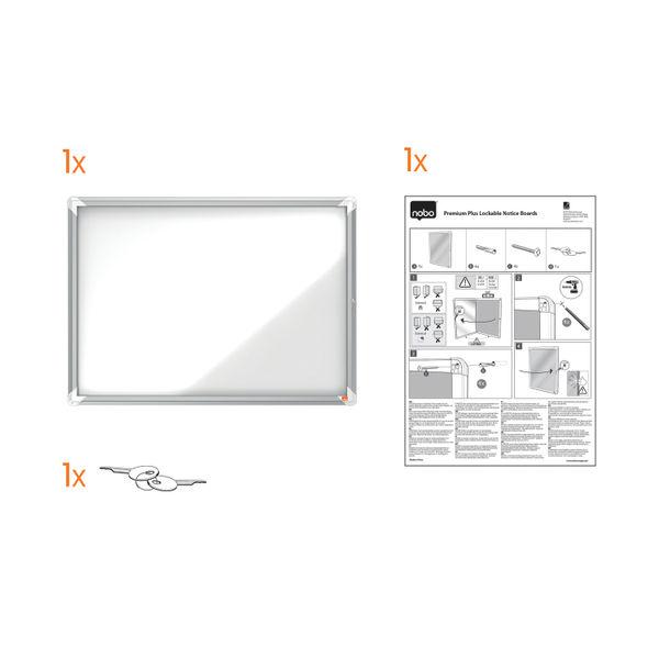 Nobo 8 x A4 External Glazed Magnetic Case - 1902579