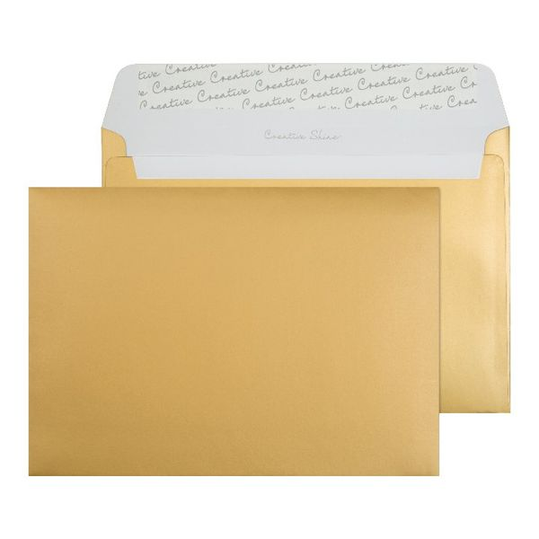 Blake C5 Envelopes Peel and Seal 130g Gold [Pack of 250] BLK93029