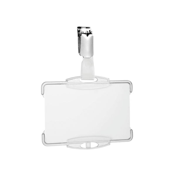 Durable Security Pass Holder with clip Clear (Pack of 25) 8118/19