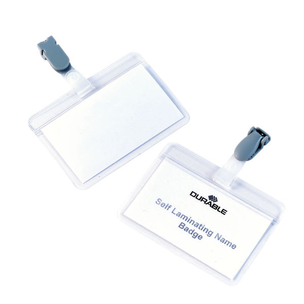 Durable 54 x 90mm Self-Laminating Name Badges, Pack of 25 | 8149/19