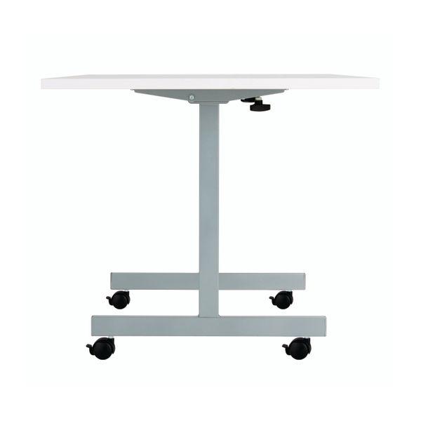 Jemini 1600x700mm White/Silver Rectangular Tilting Table