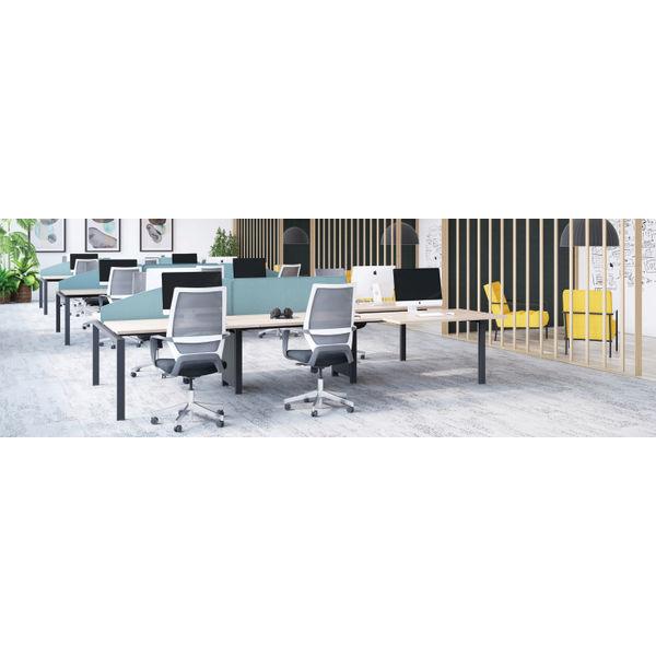 Jemini 1400mm White/White One Person Bench Desk