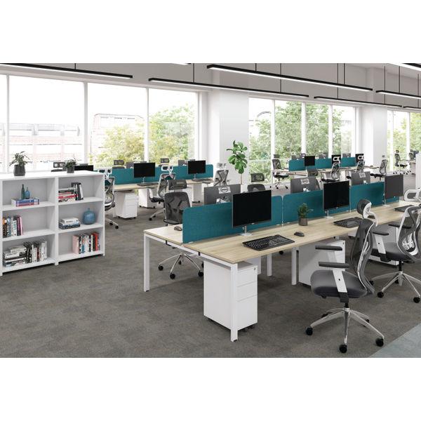 Jemini 1400mm White/White Two Person Extension Desk