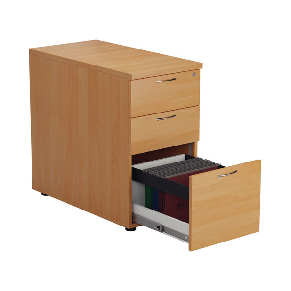 Jemini V2 D800mm Beech 3 Drawer Desk High Pedestal