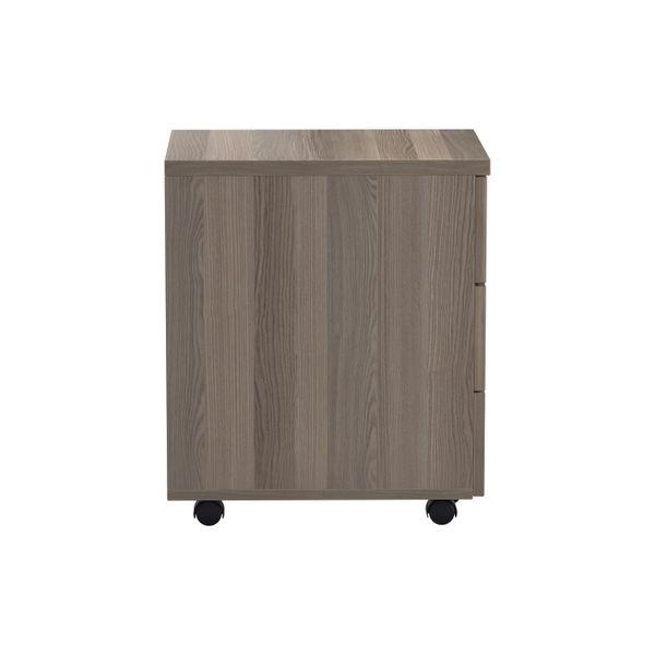 Jemini Grey Oak 3 Drawer Mobile Pedestal