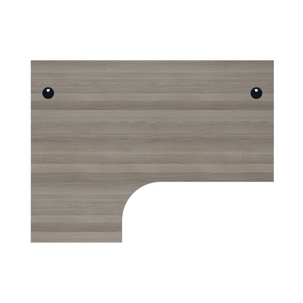 Jemini 1600mm Grey Oak/Silver Left Hand Radial Desk