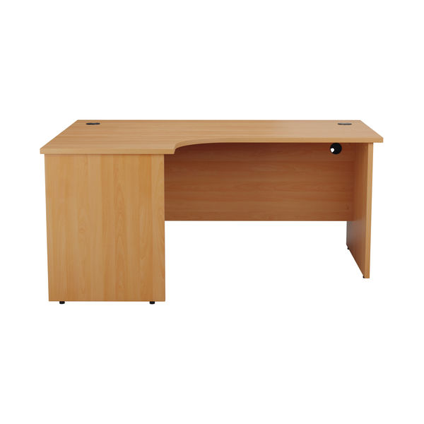 Jemini 1800mm Beech Left Hand Radial Panel End Desk