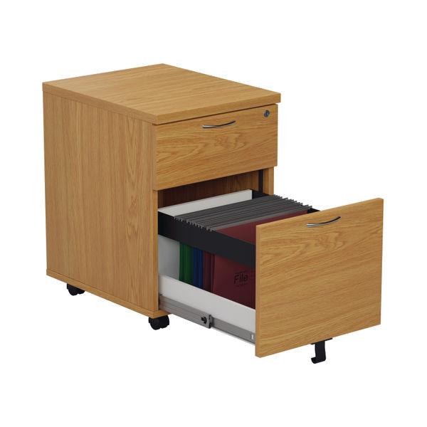 Jemini 495mm Nova Oak 2 Drawer Mobile Pedestal