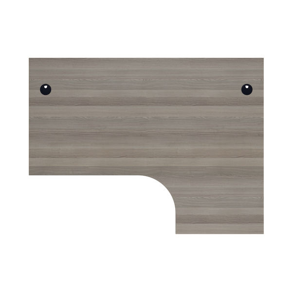 Jemini 1600mm Grey Oak/Silver Right Hand Radial Desk