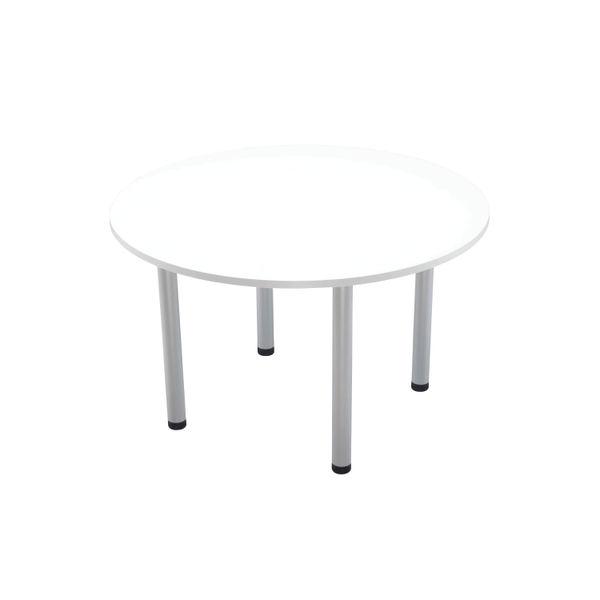 Jemini 1200mm White Circular Meeting Table