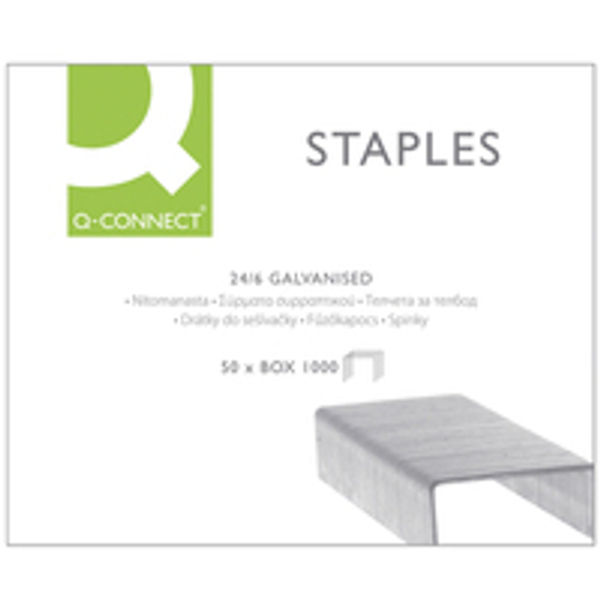 Q-Connect Metal 24/6mm Staples KF01278 (Pack of 1000)