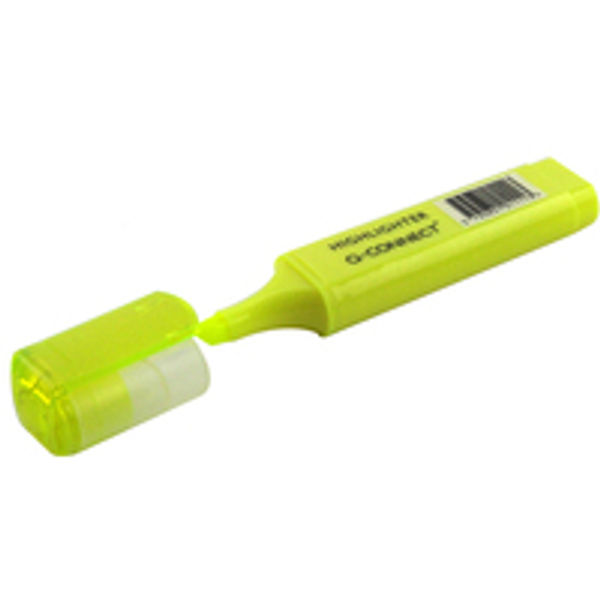 Q-Connect Yellow Highlighter Pens, Pack of 10 - KF01111