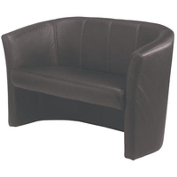 Avior Black 2 Seat Vinyl Tub Chair