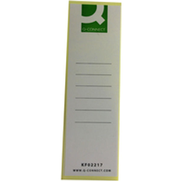 Q-Connect White Lever Arch Spine Labels, Pack of 10 - KF02217