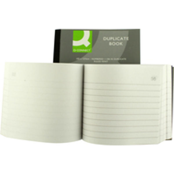 Q-Connect 102 x 127mm Feint Ruled Duplicate Book - KF04094