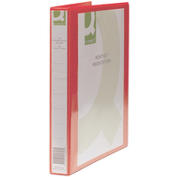 Q-Connect Red A4 25mm 4 D-Ring Presentation Binder - KF01326