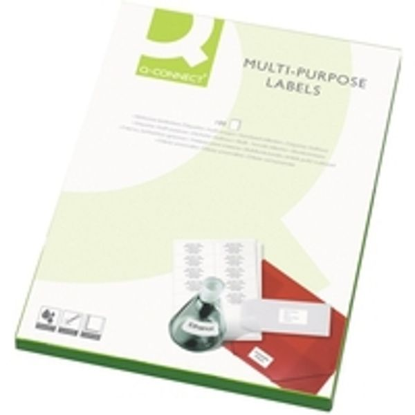 Q-Connect White 105 x 37mm Multi-Purpose Labels, Pack of 1600 - KF01132