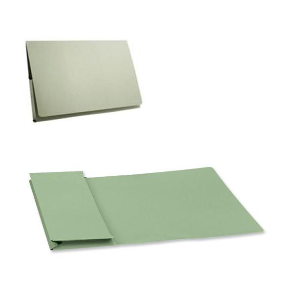 Guildhall Foolscap Full Flap Green Pocket Wallets 315gsm - Pack of 50 - PW2-GRN