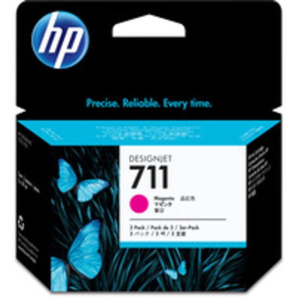 HP 711 Magenta Inkjet Cartridge (Pack of 3) CZ135A