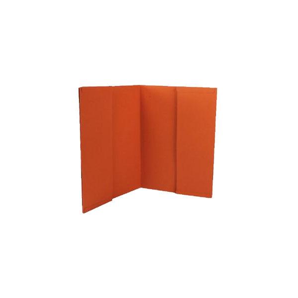 Guildhall Orange Double Pocket Legal Wallets 315gsm, Pack of 25 - 214-ORG