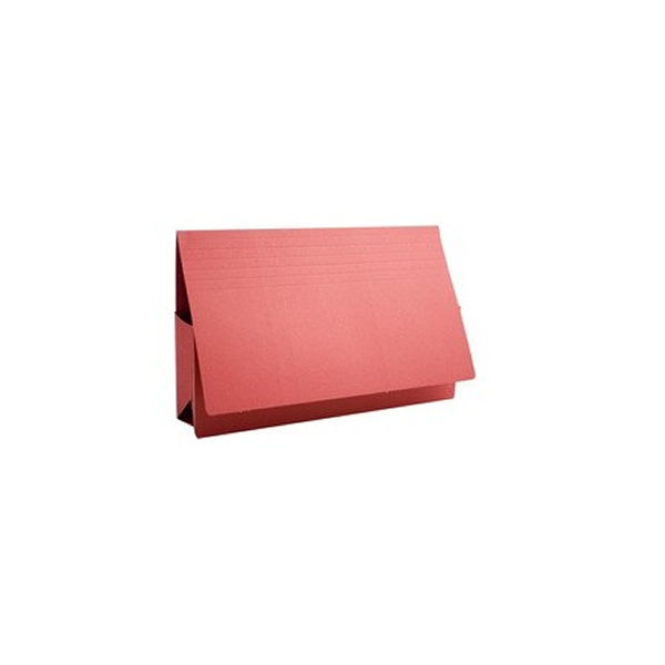 Guildhall Foolscap Red Probate Wallets 315gsm - Pack of 25 - PRW2-RED