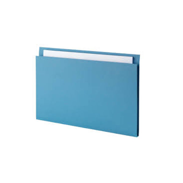 Guildhall Blue Foolscap Square Cut Folders 315gsm - Pack of 100 - FS315-BLUE