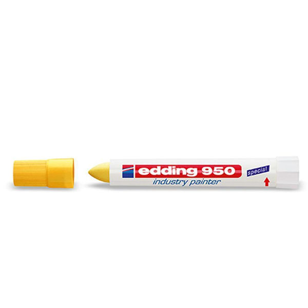 edding 950 Yellow Medium Industry Paint Markers, Pack of 10 - 950-005