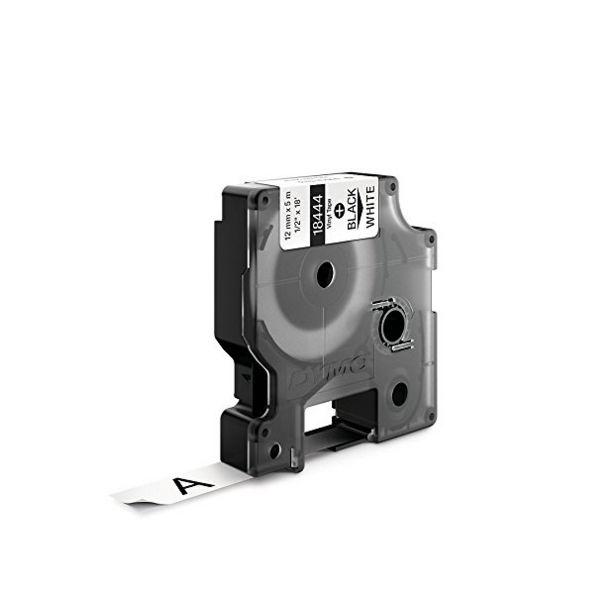Dymo Vinyl Tape 12mm Black on White - 18444