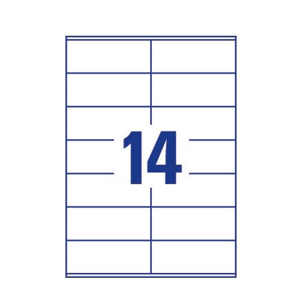 Avery Heavy Duty Address Labels 99.1 x 38.1mm White (14 per Sheet) – L7063-20