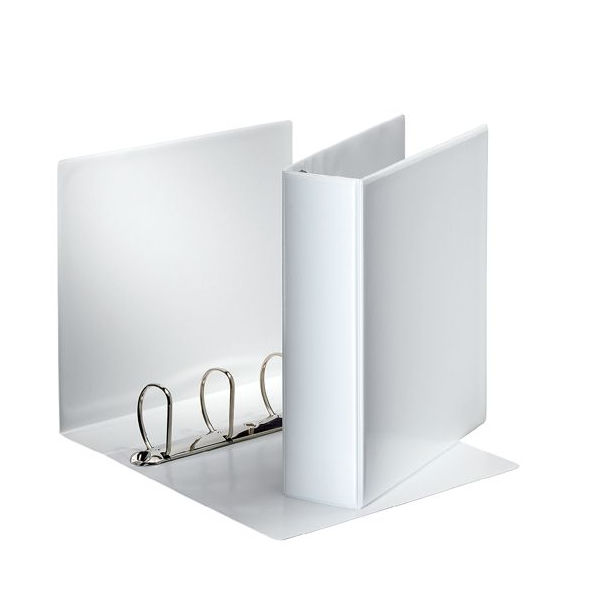 Esselte A4 25mm White Presentation 4 D-Ring Binder | 49702