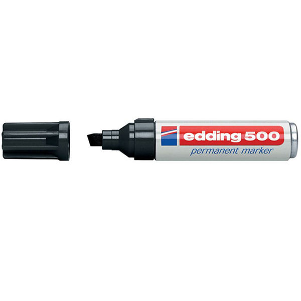 edding 500 Black Large Permanent Markers, Pack of 10 - 500-001
