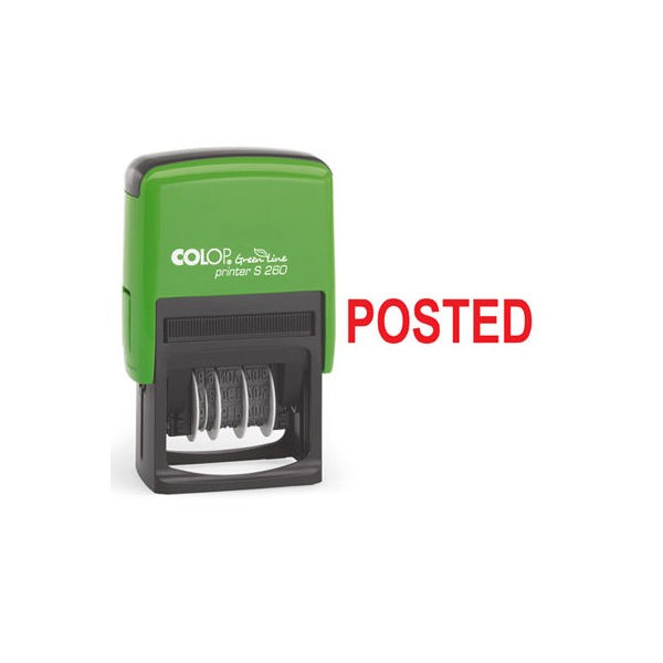 COLOP Green Line Red POSTED Word Stamp - EM00001