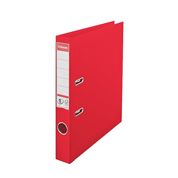 Esselte No.1 Power Red A4 Lever Arch Files 50mm - Pack of 10 - 48073